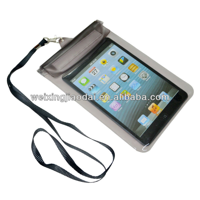 bag for ipad mini clear pvc waterproof bag
