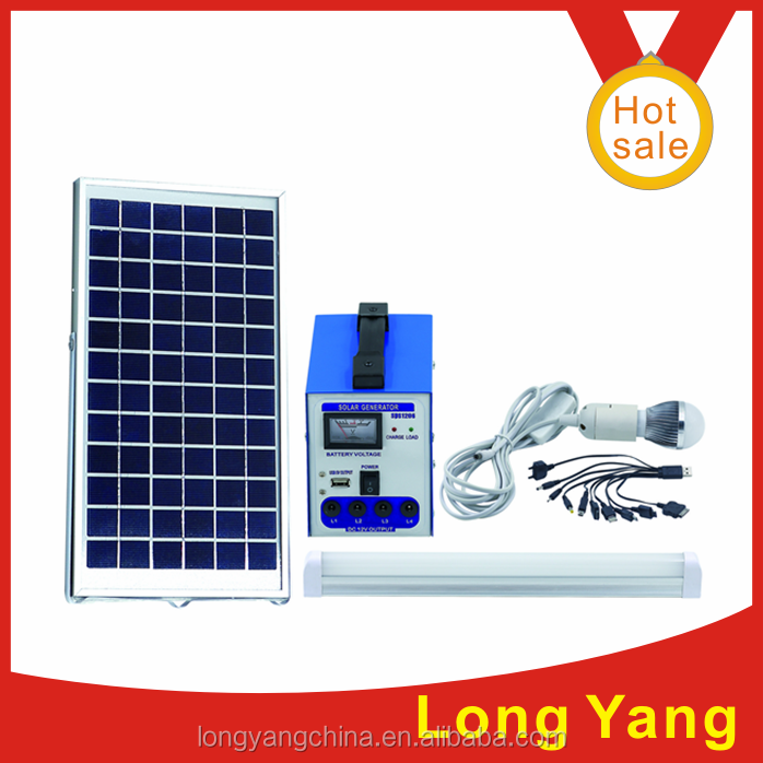 1 Year Warranty High Quality portable Solar power system/Solar DC generator for lighting and mobile charging