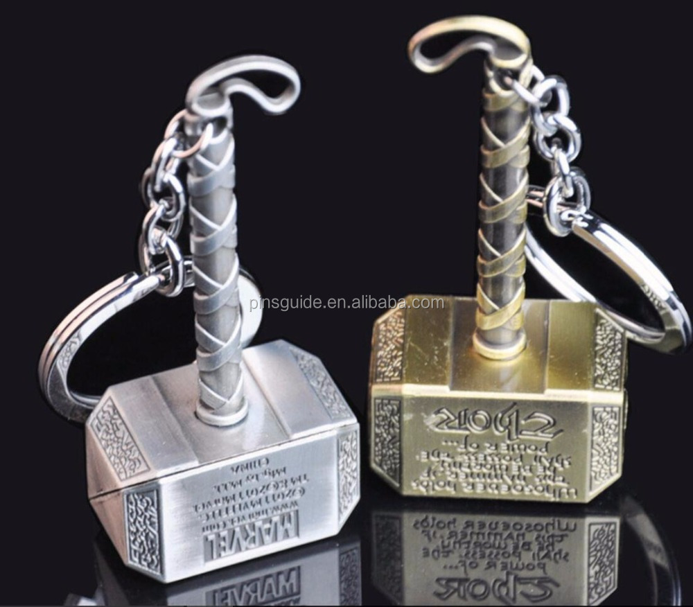 Full 3D metal Mjoinir marvel keychian Superior quality Promotional Gift Keyring for Comic of America Avenger League