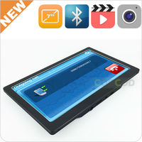 "2014 new design ultra slim 7"" inch gps mediatek mt3351 for 800MHz CPU and Bluetooth AVIN Free World Maps and 3D"