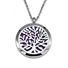 Custom Design 100% Stainless Steel Locket Aromatherapy Essential Oil Diffuser Necklace Pendant