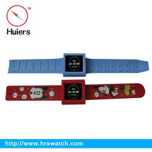 factory sports color printing silicone slap mp4 watch,MP4 Player Watch,fashion mp4 wrist watch