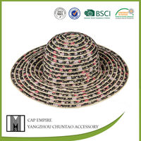 BSCI Audit ladies straw beach hats to decorate paper hats