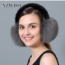 CX-A-71C Fashion Cute Fox Fur Winter Warm Ear Muffs For Girls