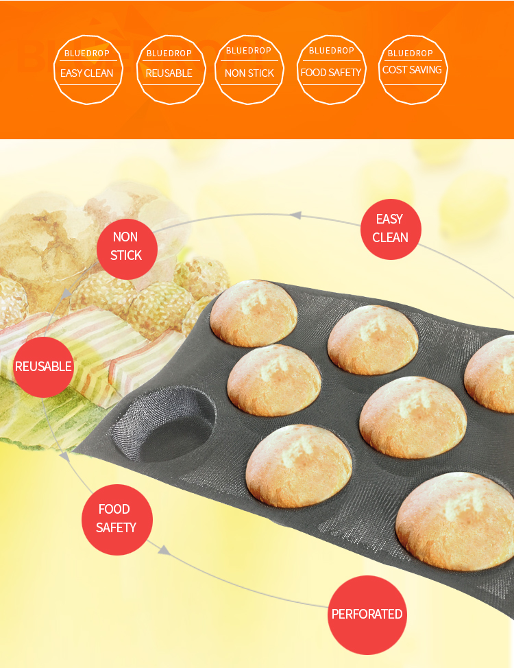 Silicone bread baking molds buns toasting moulds round shape bread forms