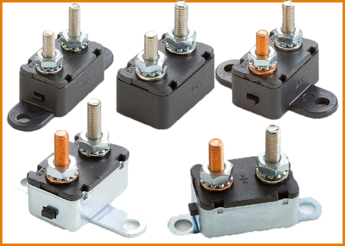 15Amp Metal Cabinet Auto Reset Circuit Breakers Parallel Mounting Automotive Circuit Breaker