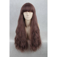 Kyokai no Kanata Shindou Ayi Long Curl Dark Taro Milk 65cm Cosplay Wig