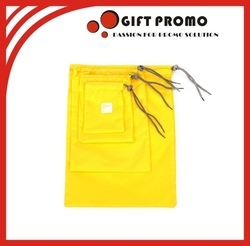 Customized Size Yellow Drawstring Bag