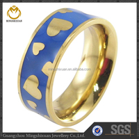 jewelry making supplies ring heart patten ring