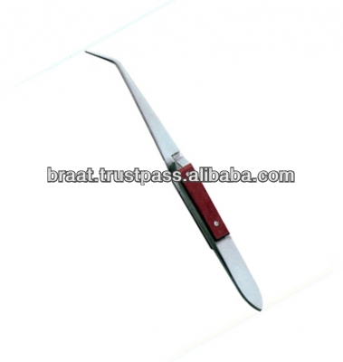 Eye Lash Extension x curved Tweezers and Tools stainless steel tweezers with fibre grip