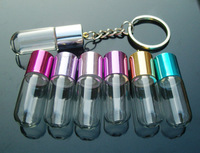 DIY Bottle Keyring Charms (Assorted Colors),Glass Bottle Keychain