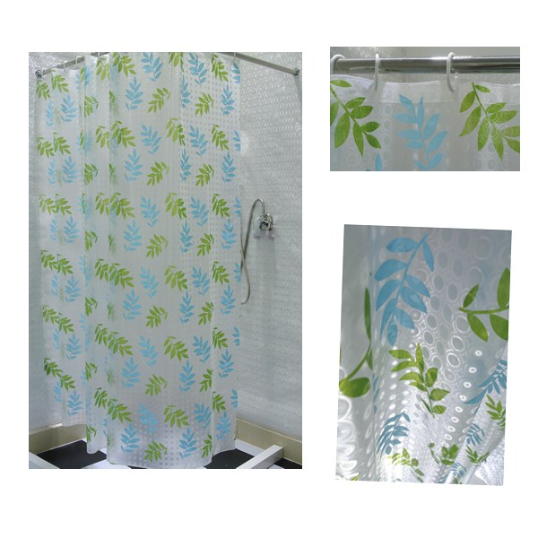 bathroom curtain with 3d fashion design have waterproof an oilproof feature