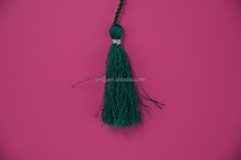 Handmade trims hot sale car tassel green color