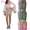 Dresses Ladies Autumn Lace -up Suede Skirt Short One Piece Dress