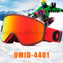 Magnetic Detachable Lens and strap custom ski Goggles OMID-4400 original manufacturer