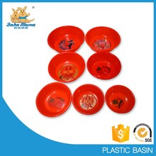 Cheap PE blue plastic basin with folwers in China foot basin manufacturer in China