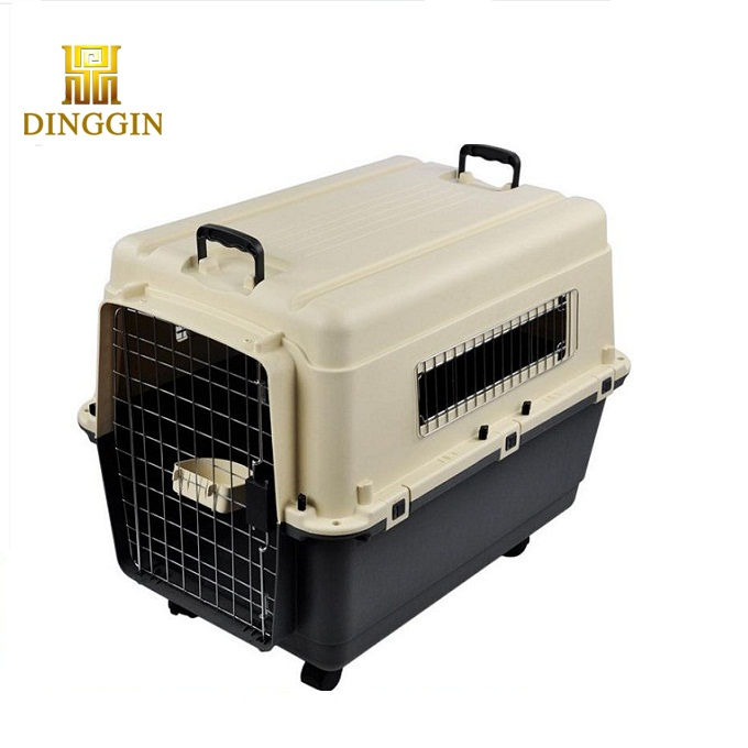 Safe and secure dog travel crate