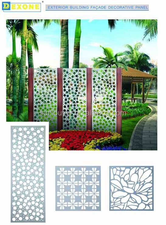 cnc carve metal customized perforated pattern metal fencing panel | room divider