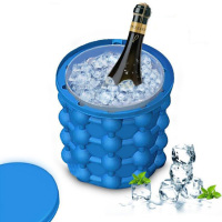 New Ice Genie Mini Space Saving Molds Cube Silicone Beer Ice Bucket