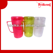 Plastic colorful water pitcher with lid