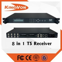 digital TV head-end device 8 in 1 satellite TS receiver