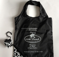 Recycled waterproof polyester foldable shopping bag (YC7471)