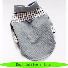 Wholesale labrador dog cloths, fashion cloth pet, custom shirts dogs lattice