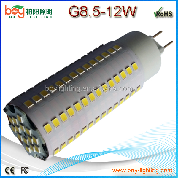 2016 new model 360 degree led g12 lamp g8.5 led 12w 1200lm 100lm/watt high bright g8.5