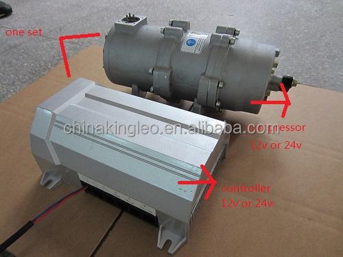 EV dc compressor 192v 3500w for truck bus van aircondition