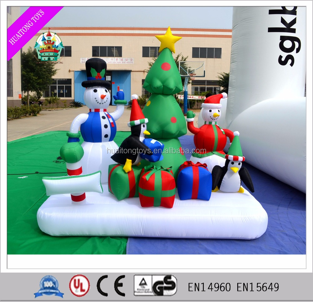 2016 PVC tarpaulin 2m inflatable model for Christmas festival decoration