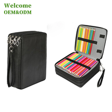 KID drawing double side pu promotional leather wholesale custom school pencil case