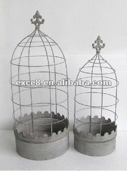 110448FD-Metal garden planter plant holder with trellis