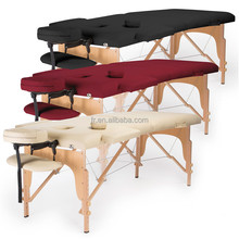 2 section adjustable wooden massage table folding massage facial bed thai massage bed spa bed