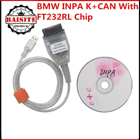 High quality for bmw auto car diagnostic tool for bmw inpa k can usb interface for bmw k+dcan inpa obd cable