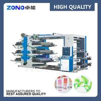 New automatic 4 color flexographic printing machine, plastic bag flexo printing machine width CE ISO9001