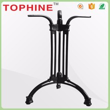 Adjustable feet tripod crank table bases iron,curved table legs