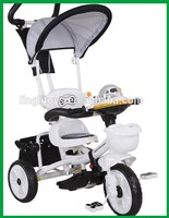 A fashional tricycle for little baby, plastic toy kids trike animal head shape tricycle pedal bike