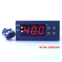 Digital Temperature Controller MH1210W 90-250V 10A 220V Thermostat Regulator with Sensor -50~110C Heating Cooling Control