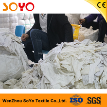 factory price wholesale white cotton industrial wiping rags with 25kg bales