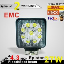 2017 super bright car 4 inch 27W LED Work Light led tractor working lights with EMC