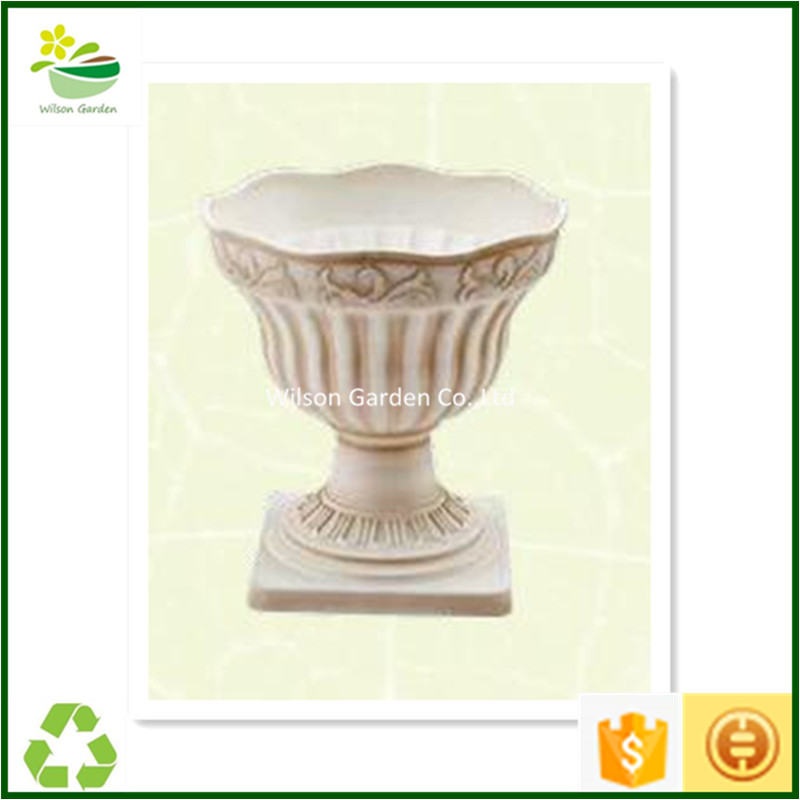 Wholesale outdoor plastic planting pots white plastic flower pots popular plant containers for sale
