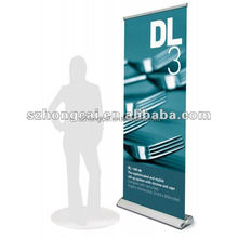 high quality widebase retractable scrolling roll up banner stand