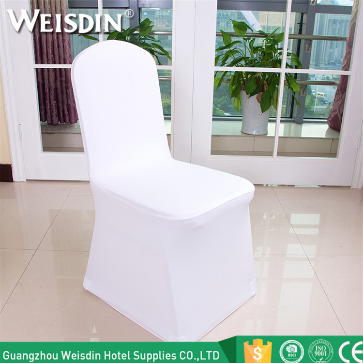 Wholesale luxury cheap universal white wedding spandex chair cover