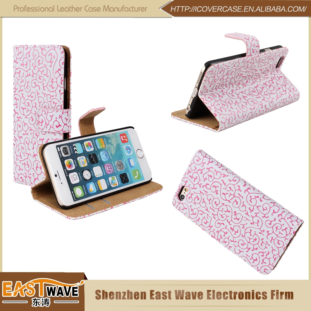 Sublimation Leather Case For Iphone6 Fancy Cell Phone Cases