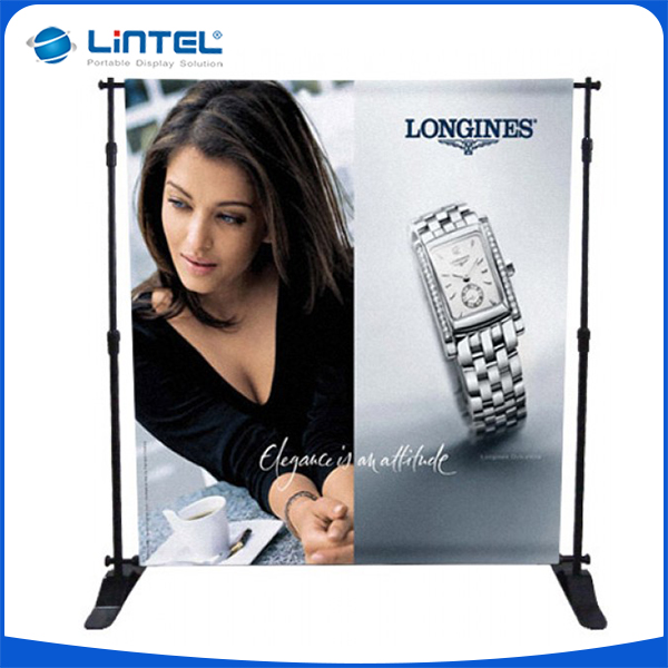 Event step and repeat fabric backdrop wall stand