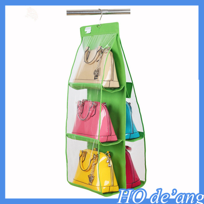 household items 6-layer women bag storage bag hanging dust covers for women handbag MHo-154
