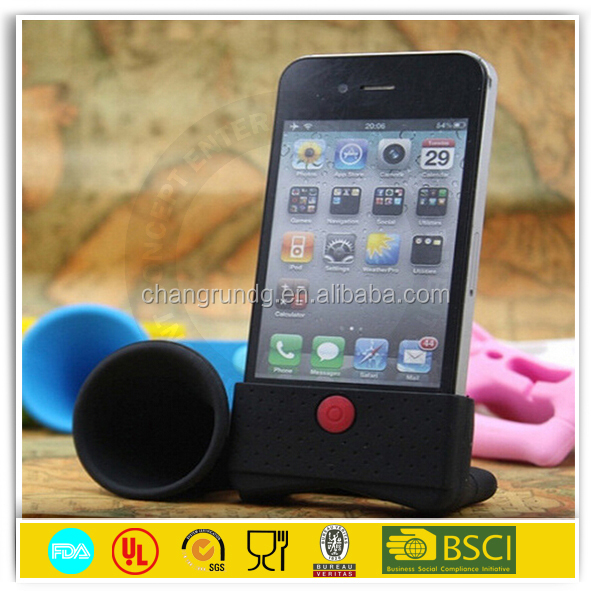 2015 Factory Direct China Developed Eco-friendly Wireless Newest Hot Sell Silicone Speaker/Horn/Amplifier