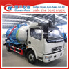 2016 new dongfeng 6000L vacuum sewage suction tanker truck for sale