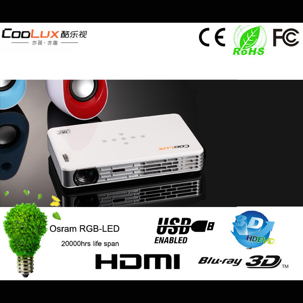 Coolux X3+ Mini Projector 3D DLP 1080p