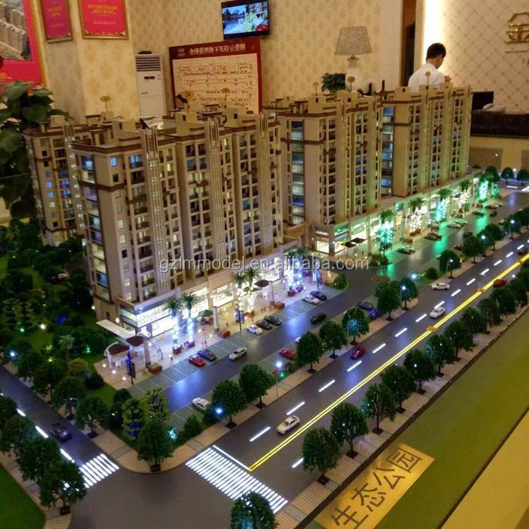 Plastic LED lighting Architectural Scale Models